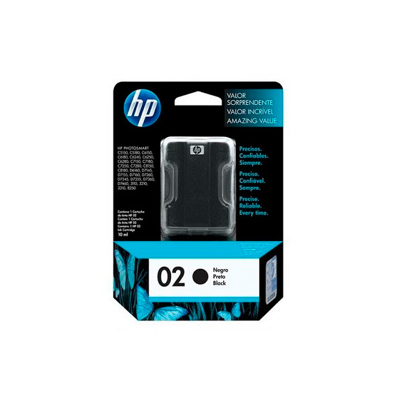CARTUCHO HP C8721W (02) 10ML PRETO