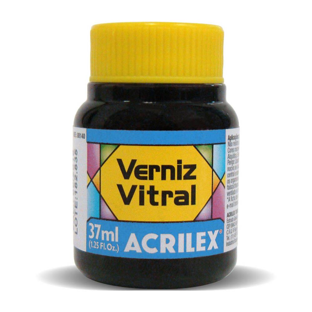 VERNIZ VITRAL 37ML AZUL VIVO 597